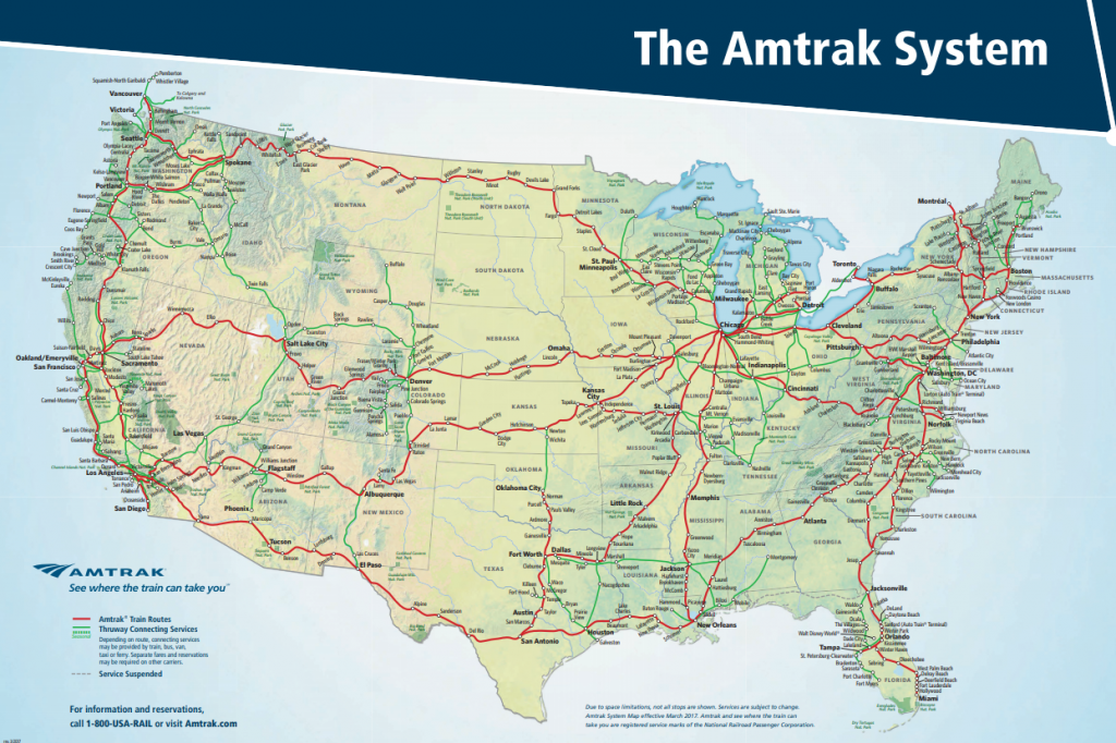 Train Travel Usa Map.The Ultimate Guide To Cross Country Train Travel The Retirement