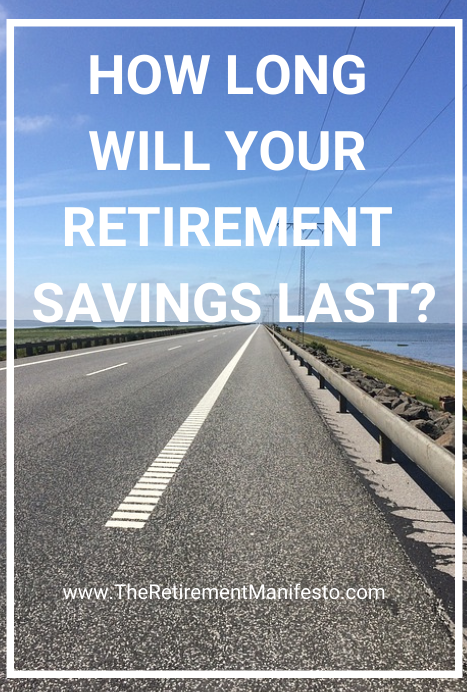 graphs to show how long your retirement savings will last