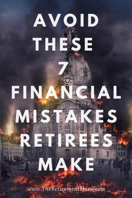 financial mistakes retirees make