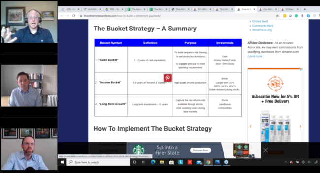 bucket strategy questions on retirement researcher